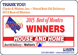 Clyde S. Walton, Inc. - Voted Best Oil Delivery 2015 Best Montco