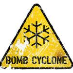 Bomb cyclone sign