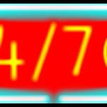 24/7 neon sign