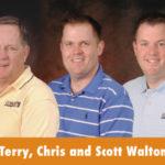 Terry, Chris and Scott Walton