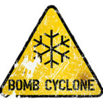 Bomb cyclone sign