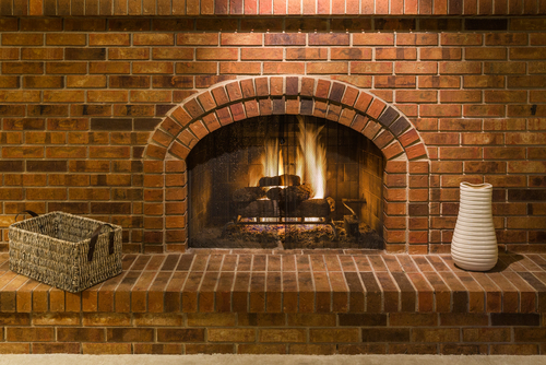 propane fireplace hearth